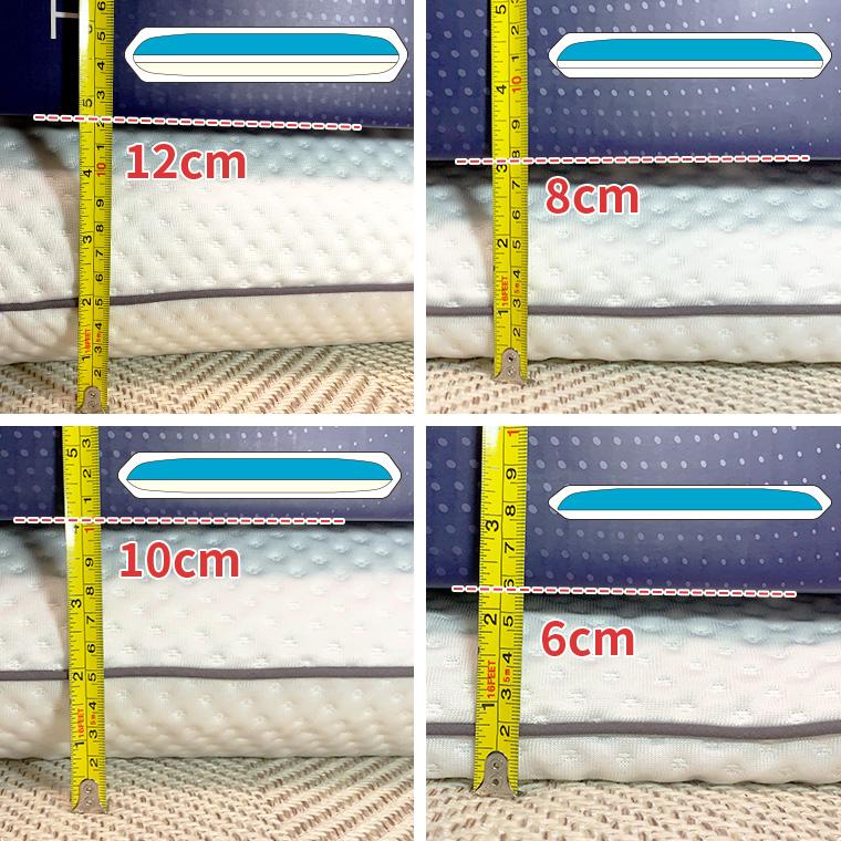 3層全て入れた状態だと12cm、下層だけ抜くと8cm、中間層だけ抜くと10cm、中間層と下層を抜くと6cmの高さになります。
