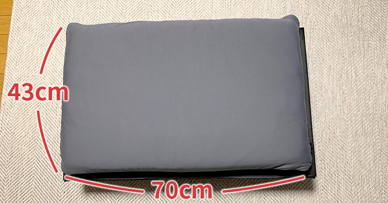LIMNE枕のサイズ